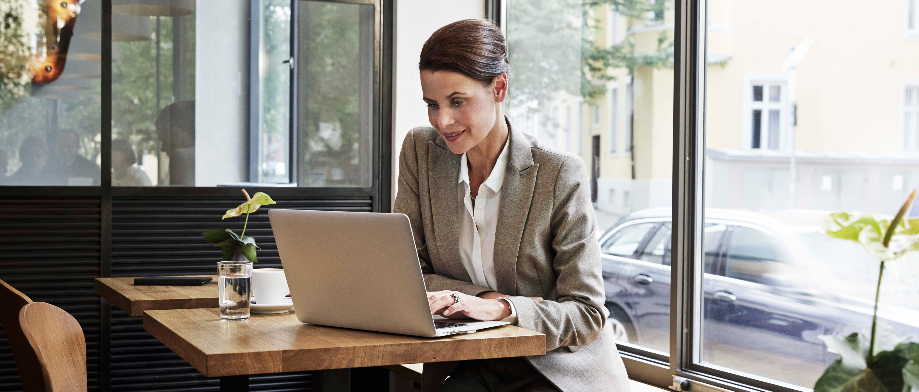 Woman at laptop