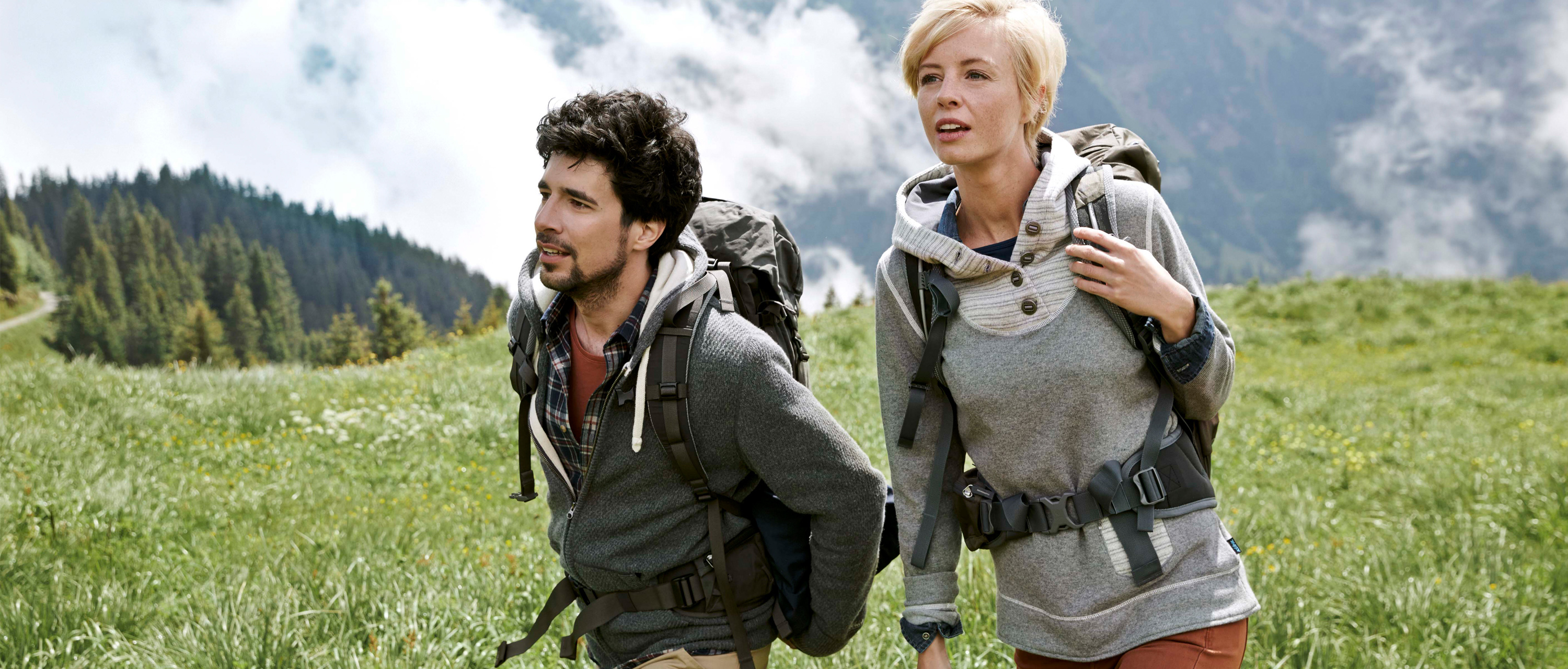 Couple on hiking